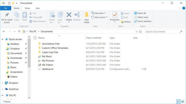 file explorer in Windows 10