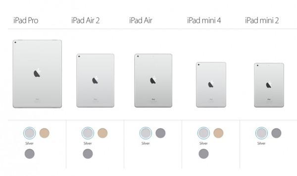 apple ipad comparison