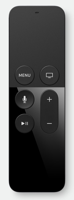 apple tv remote with siri