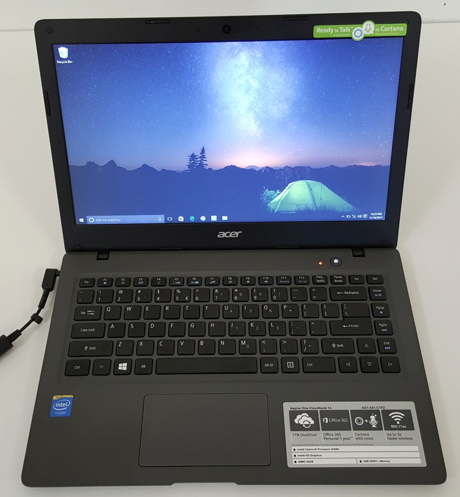 acer aspire one cloudbook 14 open