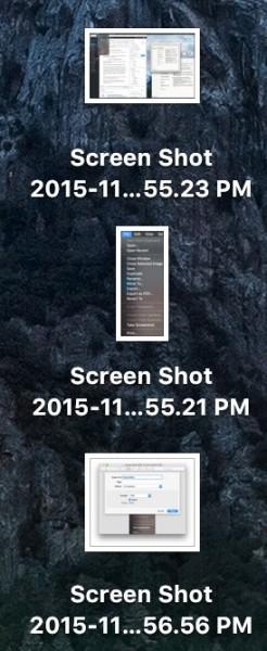 Screenshots on OS X