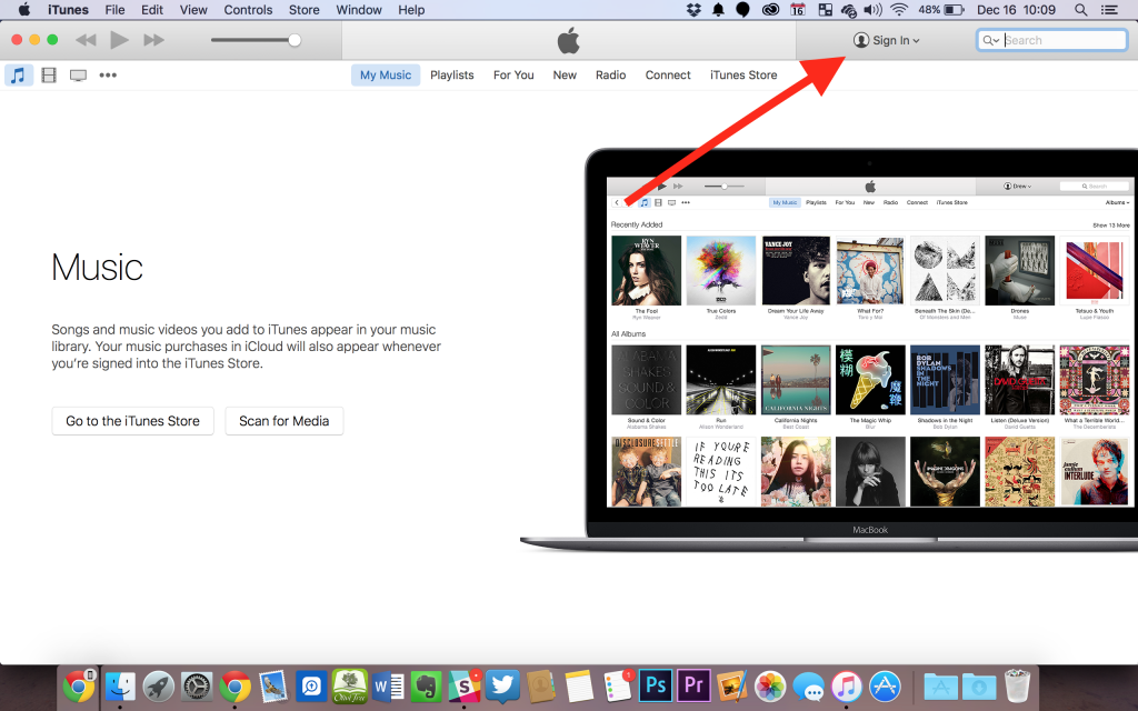 sign into itunes with apple id