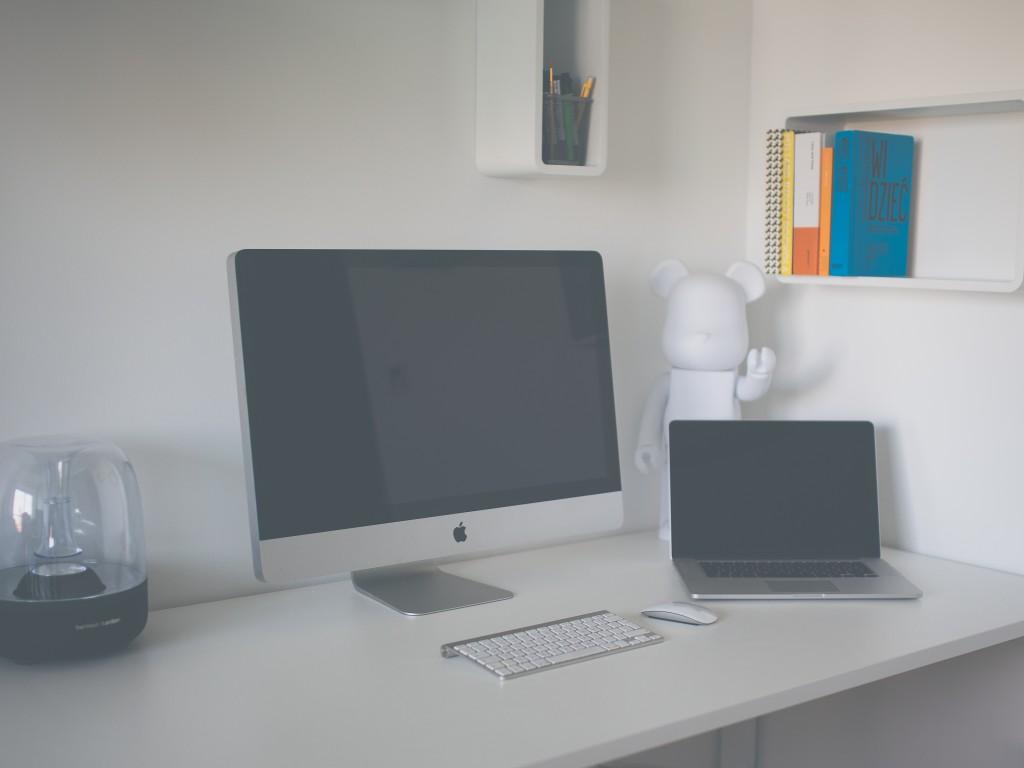 iMac on a desk.