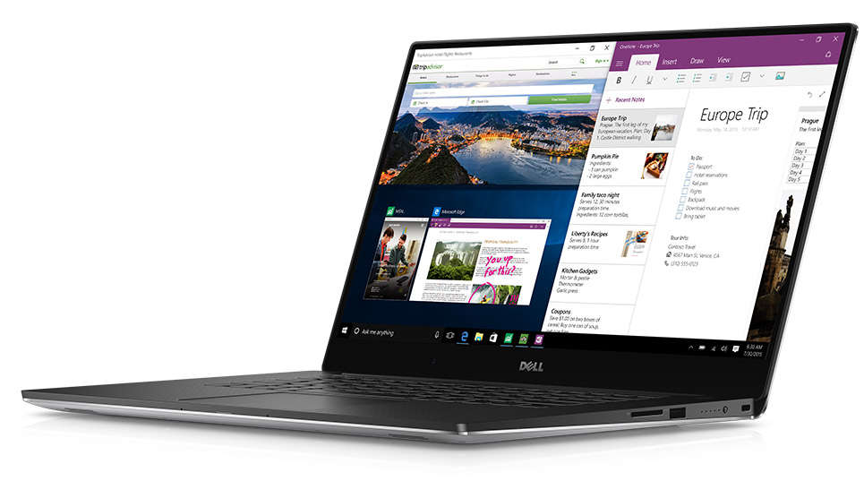 The Dell XPS 15.