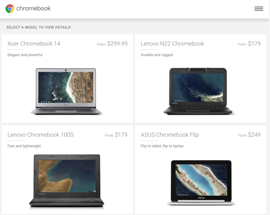 chromebooks in play store