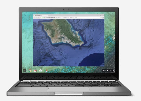 chromebook pixel front