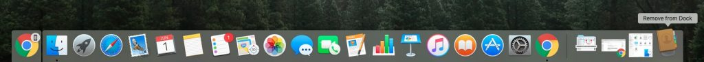 drag unwanted app icons to trash on dock