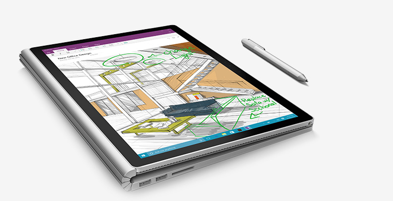 microsoft surface book tablet mode
