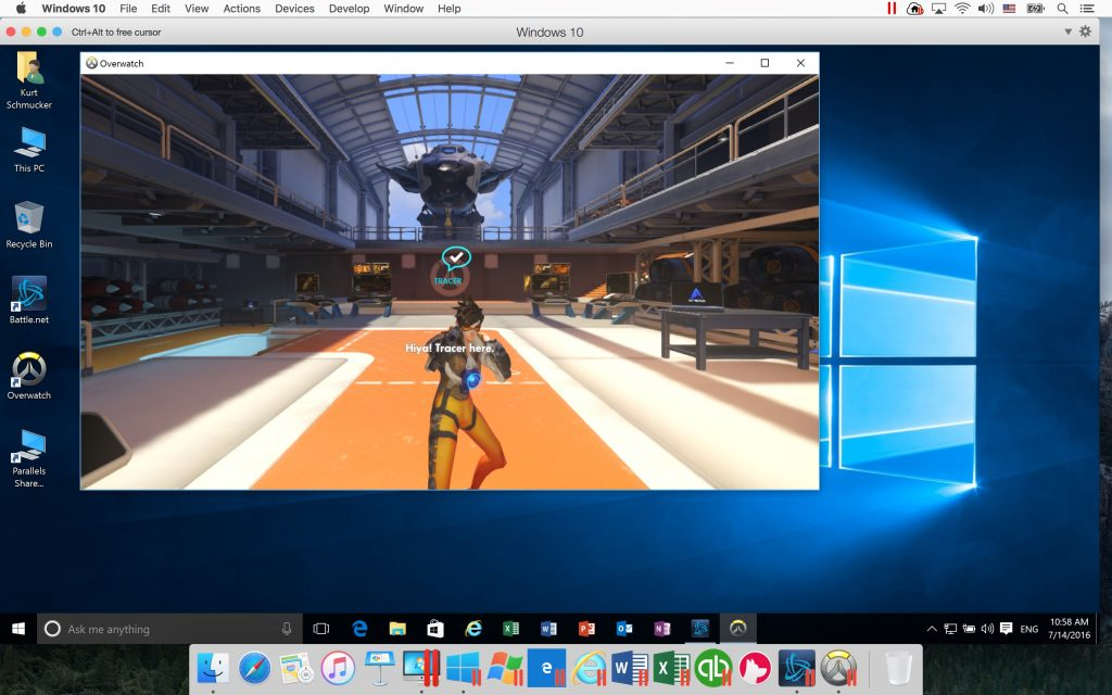 Play Blizzard Overwatch in Windows on a Mac.
