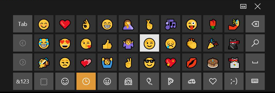 windows 10 anniversary update emoji keyboard