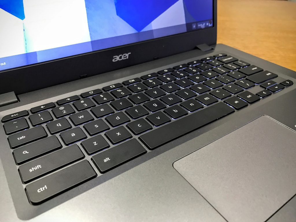 acer chromebook 14 for work keyboard and trackpad