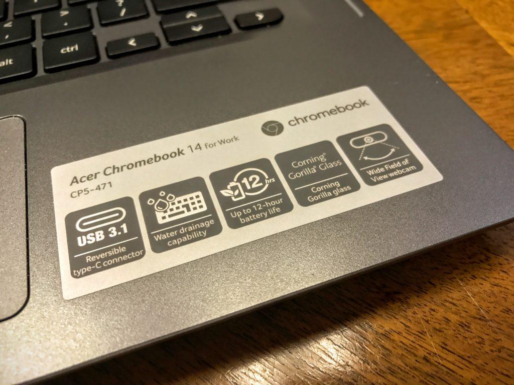 acer chromebook 14 for work specs