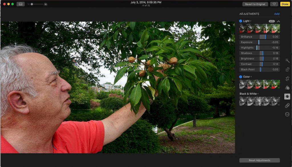 photos in macos sierra editing tools