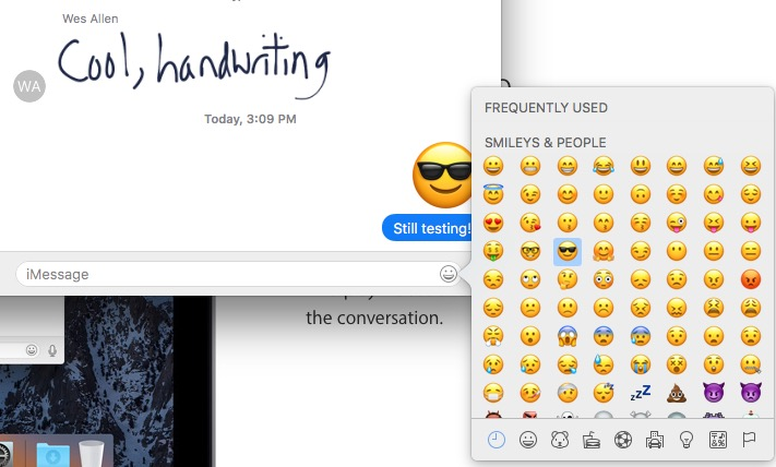 big emojies in messages