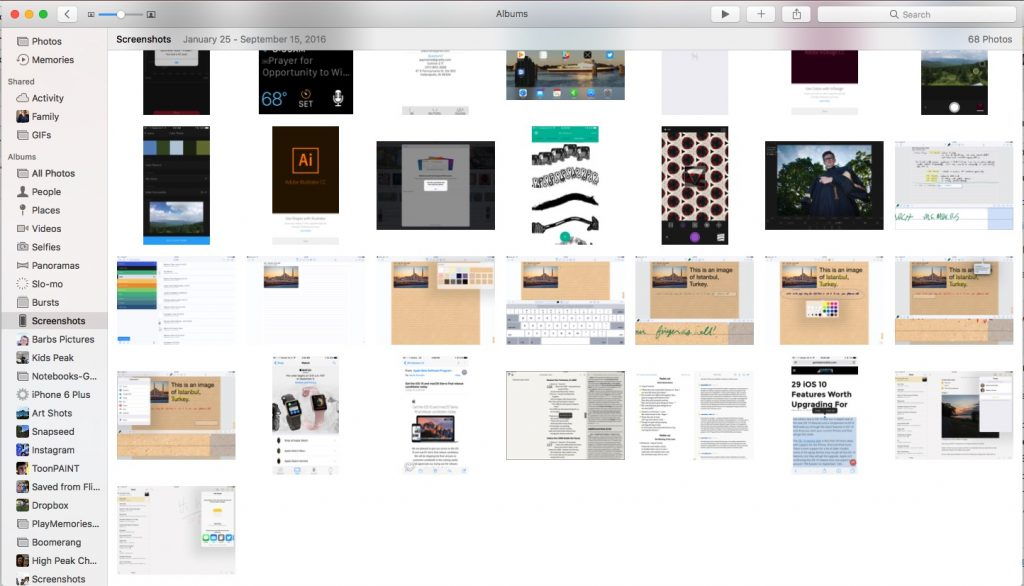 screenshots in macos sierra screenshots