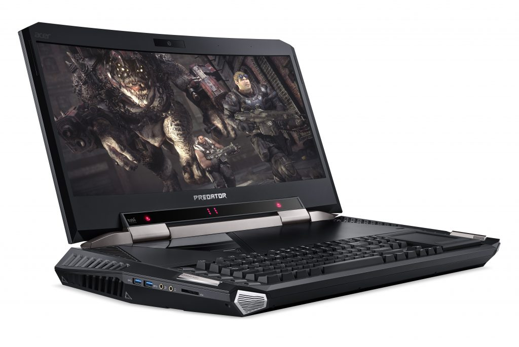 acer predator 21 x gx21-71_right-facing_eye-tracking-lights_game-on-screen_touchpad