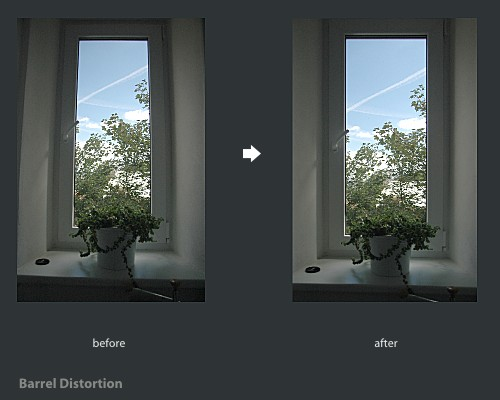 GIMP barrel distortion correction