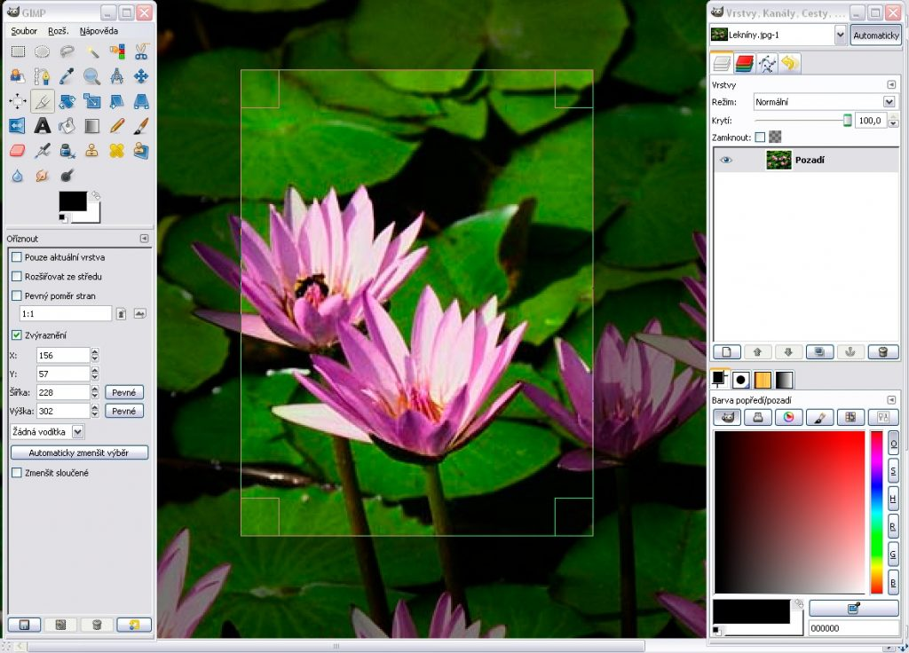 gimp windows user interface