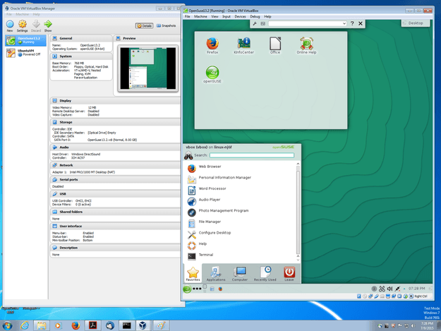 virtualbox with linux