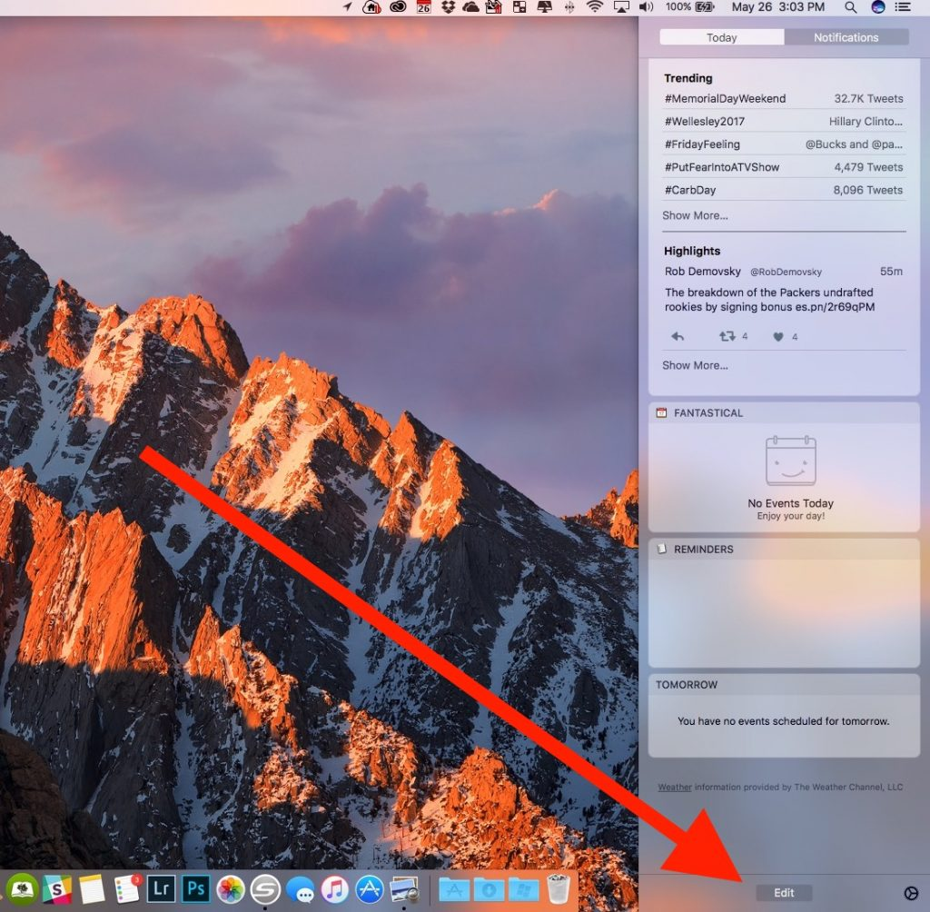 edit what shows up in macos notification center