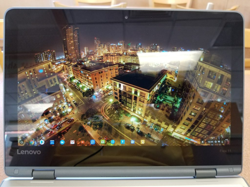 Lenovo Flex 11 Chromebook antiglare display