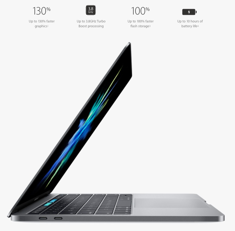 performance improvements macbook pro kaby lake