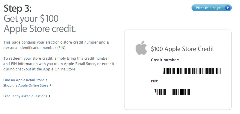 iphone 100 rebate how to get your apple store credit. Black Bedroom Furniture Sets. Home Design Ideas